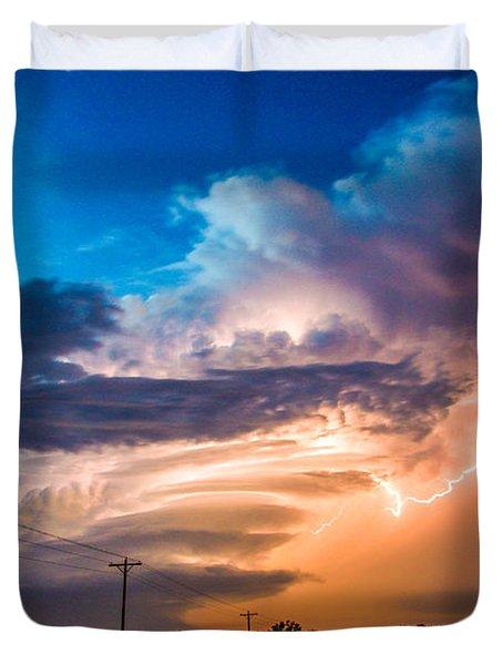 Wicked Good Nebraska Supercell Duvet Cover