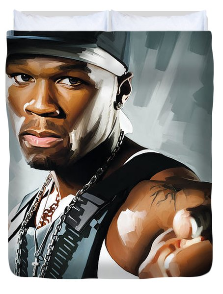 50 Cent Artwork 2 Duvet Cover by Sheraz A