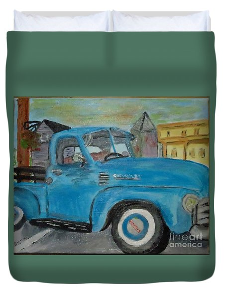 50 Chevy In Tannersville Duvet Cover