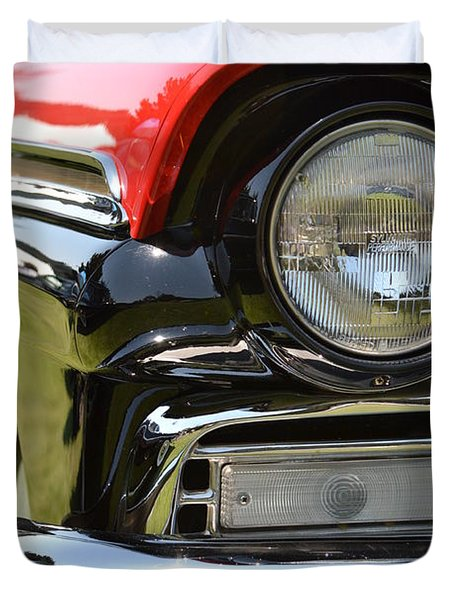 Duvet Cover featuring the photograph 50's Ford by Dean Ferreira