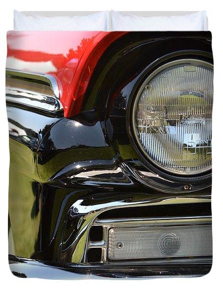50's Ford Duvet Cover by Dean Ferreira