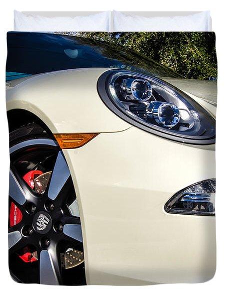 50th Anniversary Porsche 911 Duvet Cover