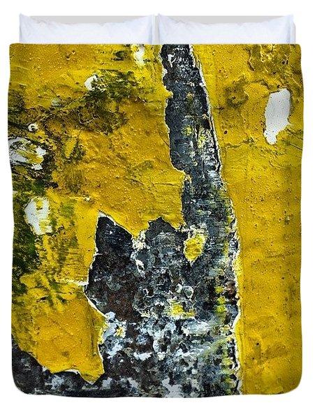 Yellow Post 2 Duvet Cover by Jason Michael Roust