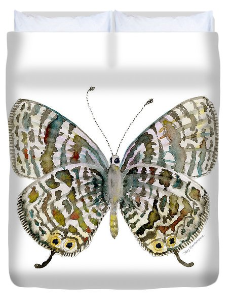 51 Lang's Short-tailed Blue Butterfly Duvet Cover