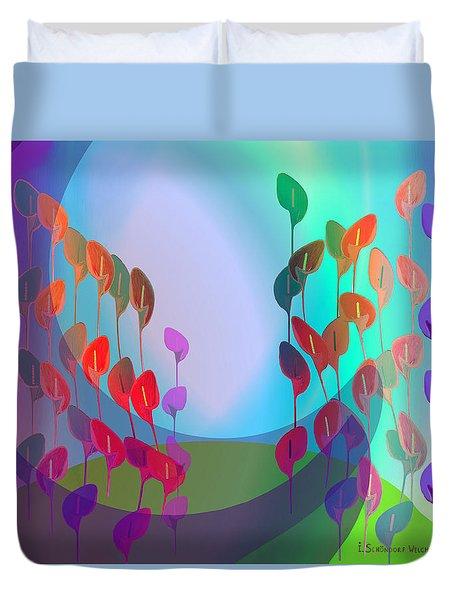 510 - Pastel Flowers ... Duvet Cover