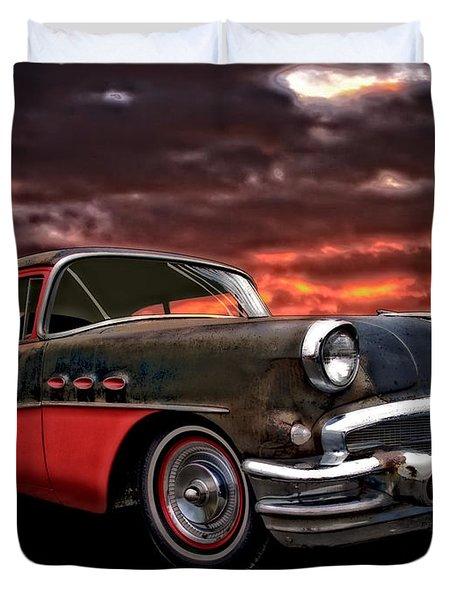 53 Buick Special Two Door Duvet Cover