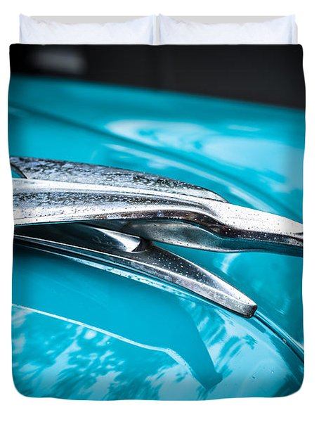 '53 Ford Bel Air Hood Ornament 2 Duvet Cover