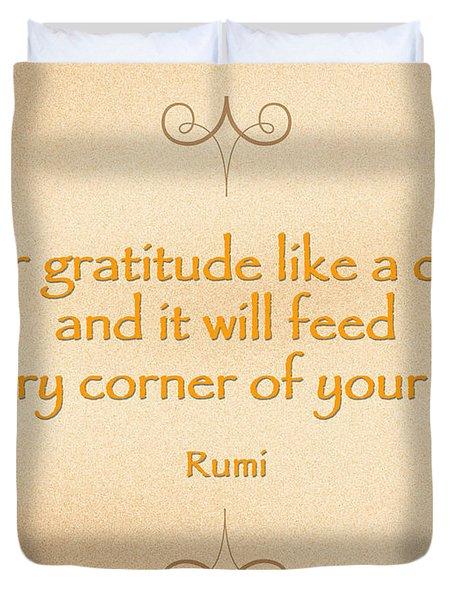 54- Rumi Duvet Cover
