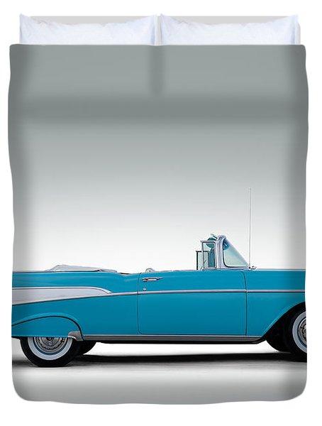 57 Chevy Convertible Duvet Cover