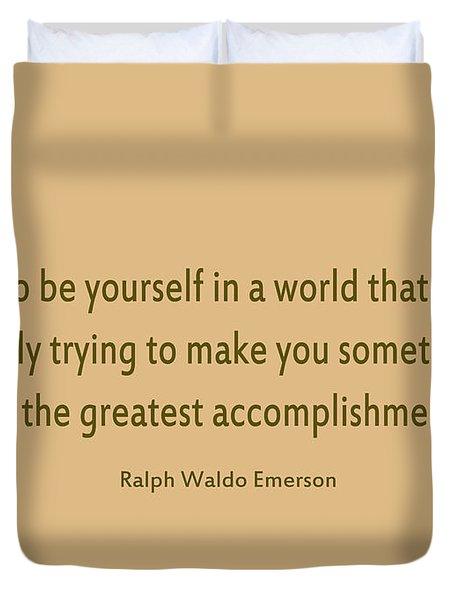 58- Ralph Waldo Emerson Duvet Cover