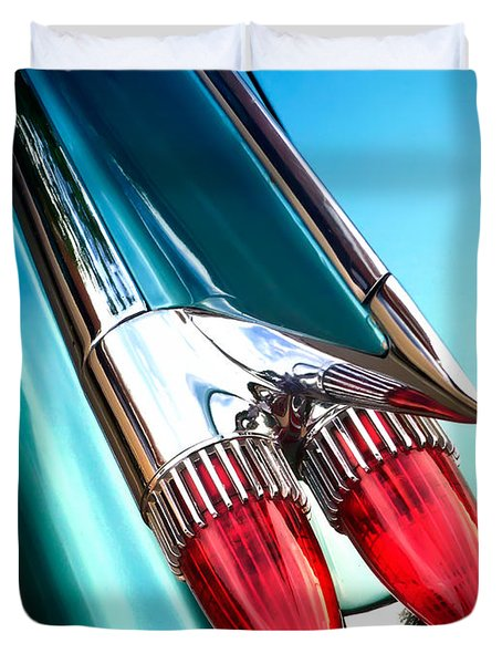 '59  Caddy Tail Fins Duvet Cover