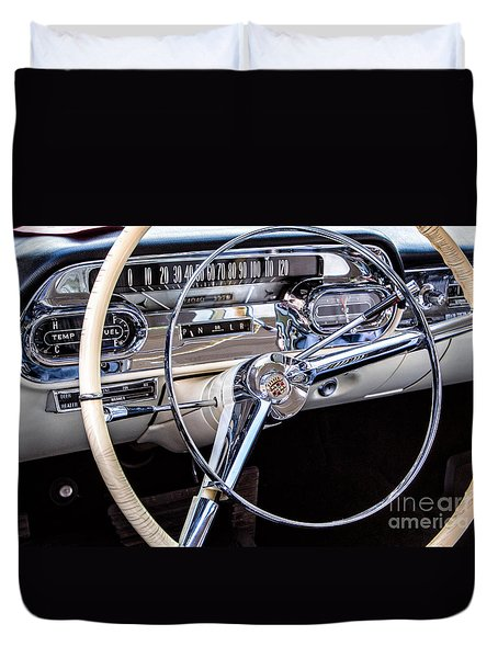 58 Cadillac Dashboard Duvet Cover