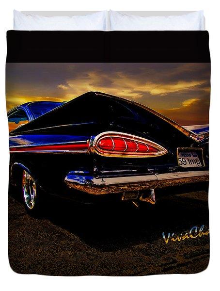 59 Chevy Impala Hardtop Duvet Cover