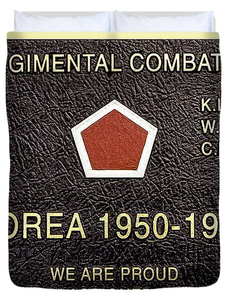 5th Regimental Combat Team Arlington Cemetary Memorial Duvet Cover