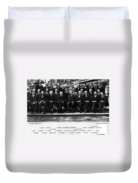 5th Solvay Conference Of 1927 Duvet Cover