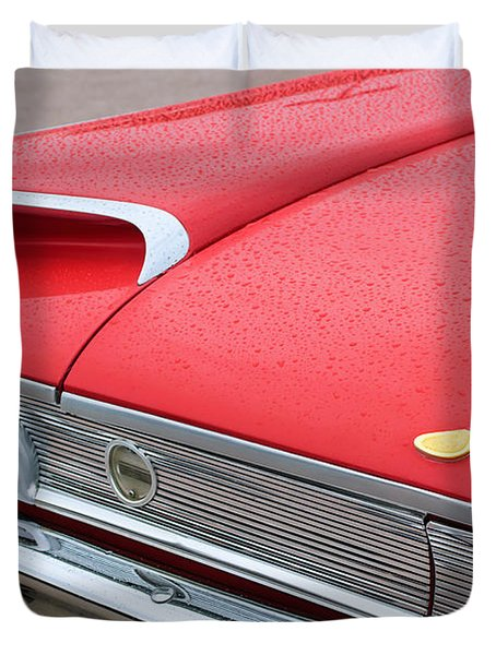 1960 Ford Galaxie Starliner Taillight Emblem Duvet Cover by Jill Reger