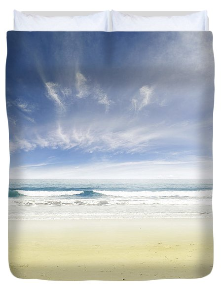 Beach Duvet Cover by Les Cunliffe