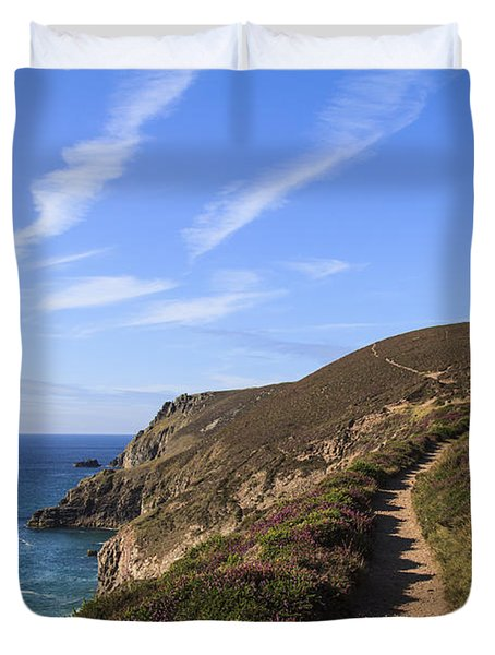 Chapel Porth Cornwall Duvet Cover