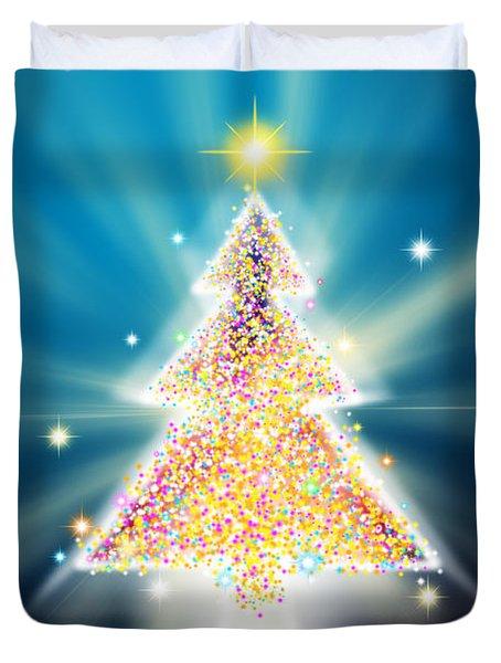 Christmas Tree Duvet Cover by Atiketta Sangasaeng