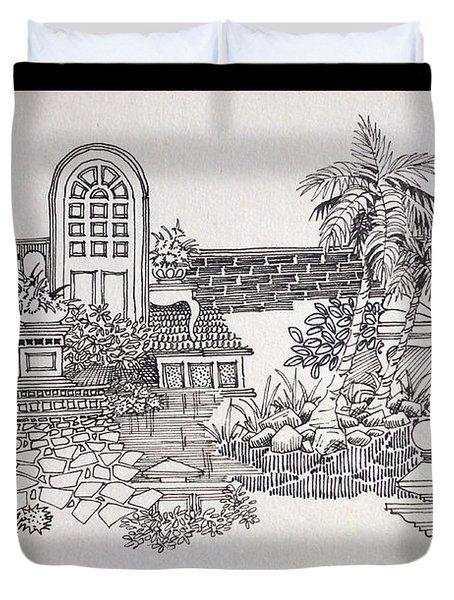 Composition Duvet Cover