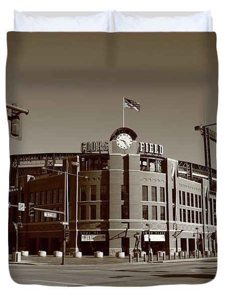 Coors Field - Colorado Rockies Duvet Cover