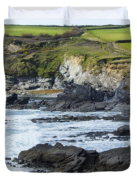 Cornish Seascape Gunwalloe Duvet Cover