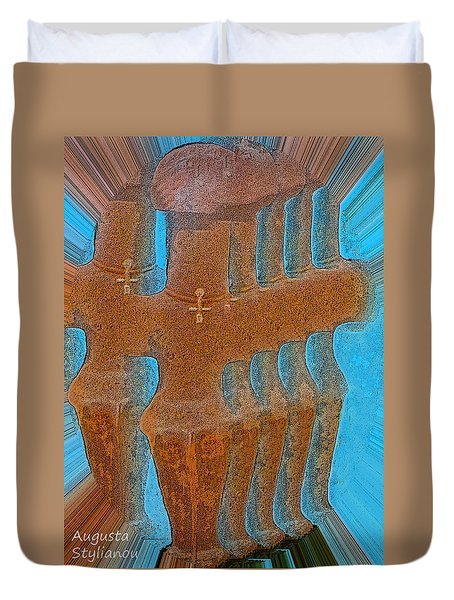 Cyprus Idol Of Pomos Duvet Cover by Augusta Stylianou