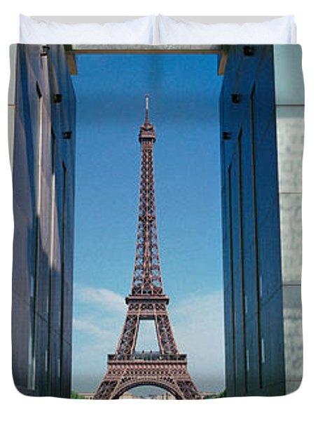 Eiffel Tower Paris France Duvet Cover
