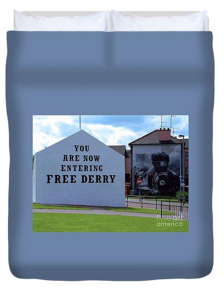 Free Derry Corner 3 Duvet Cover