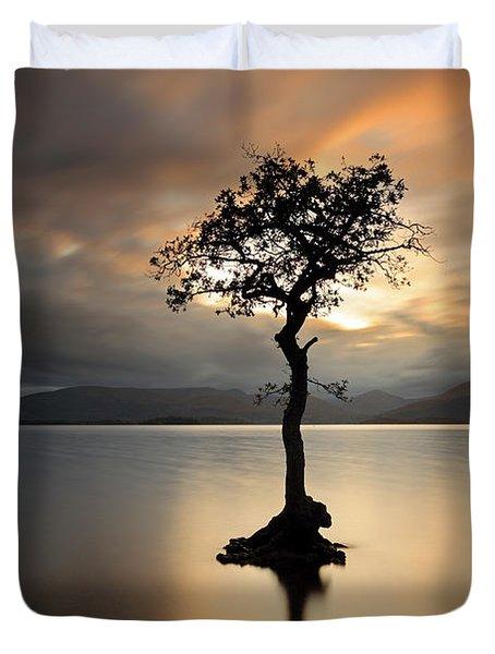 Loch Lomond Sunset Duvet Cover