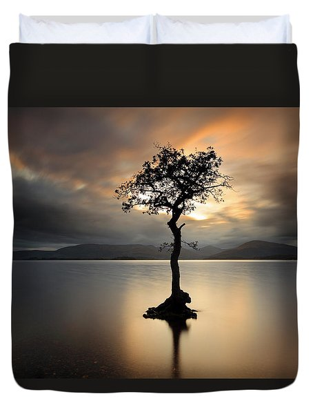 Duvet Cover featuring the photograph Loch Lomond Sunset by Grant Glendinning