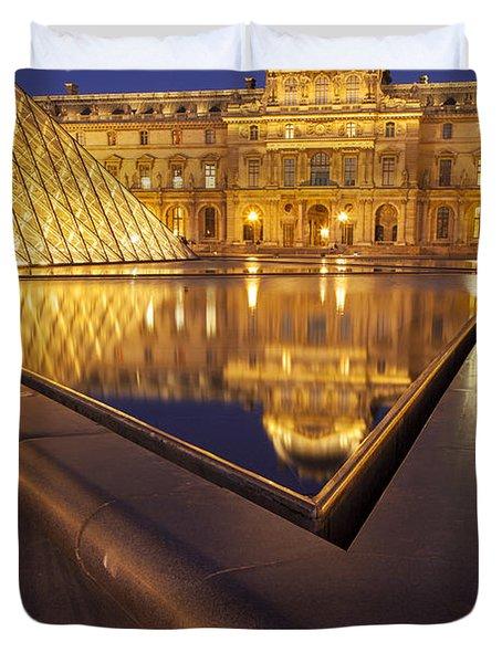 Musee Du Louvre Duvet Cover by Brian Jannsen