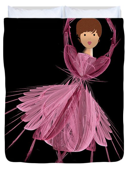 6 Pink Ballerina Duvet Cover by Andee Design
