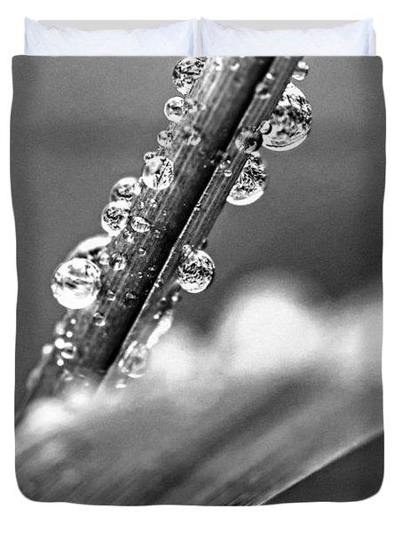 Raindrops On Grass Duvet Cover by Elena Elisseeva