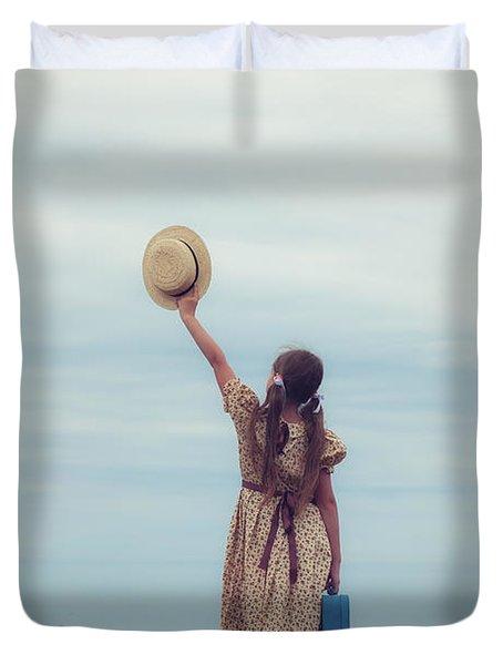 Refugee Girl Duvet Cover