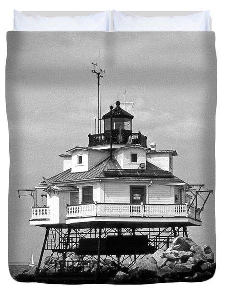 Thomas Point Shoal Lighthouse Duvet Cover