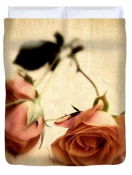 Vintage Rose Duvet Cover by Jessica Jenney