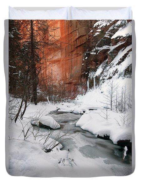 16x20 Canvas - West Fork Snow Duvet Cover