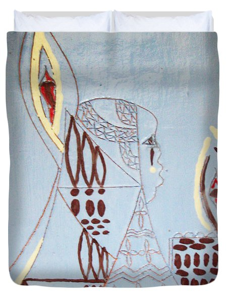 Wise Virgin Duvet Cover by Gloria Ssali