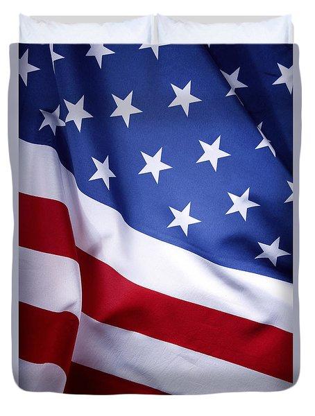 American Flag 50 Duvet Cover
