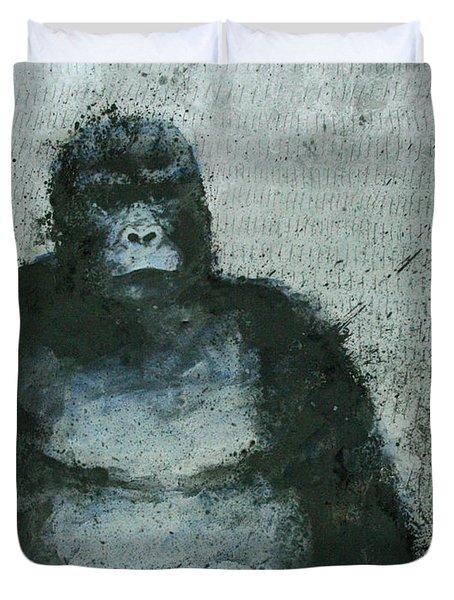 650 Mountain Gorillas, 2008 Mixed Media Duvet Cover