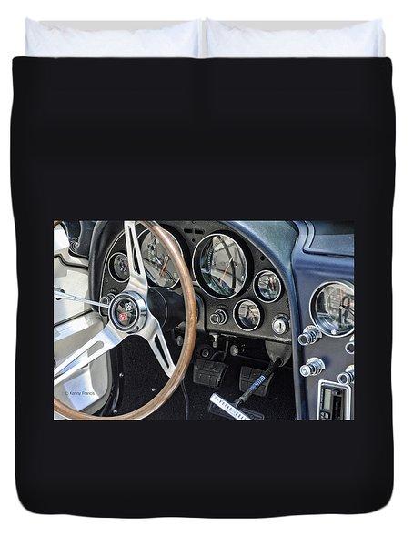 '66 Corvette Dash Duvet Cover