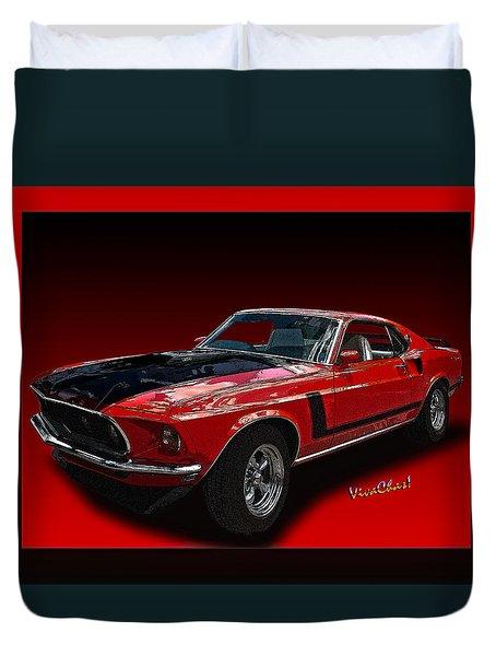 69 Mustang Mach 1 Duvet Cover