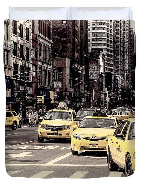 6th Avenue Nyc Traffic Duvet Cover