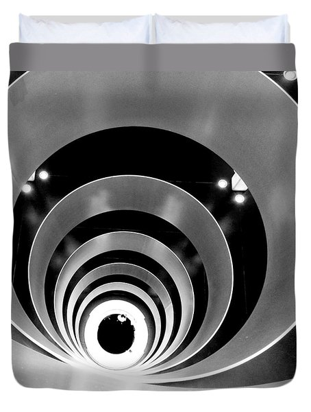 Duvet Cover featuring the photograph 6'th Floor by Mariusz Zawadzki