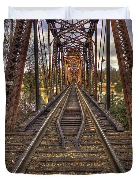 6th Street Rail Road Bridge Duvet Cover