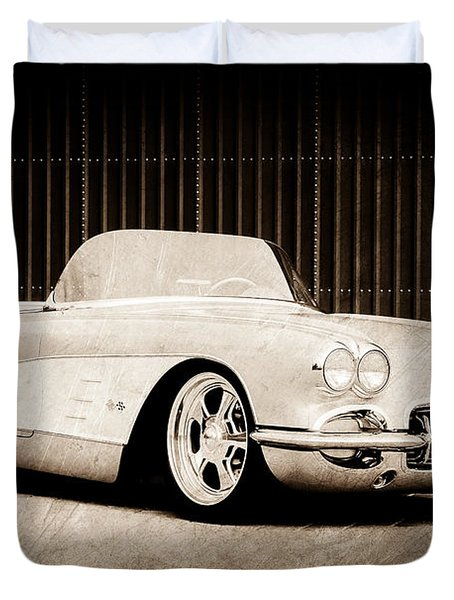 Duvet Cover featuring the photograph 1960 Chevrolet Corvette by Jill Reger