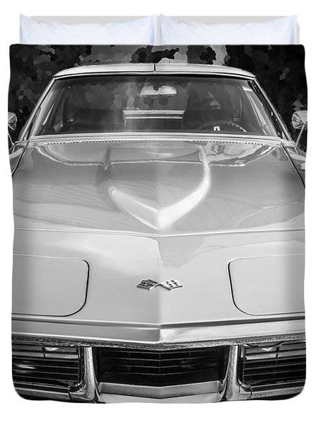 1969 Chevrolet Corvette 427 Bw Duvet Cover