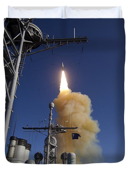 A Standard Missile-3 Is Launched Duvet Cover