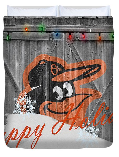 Baltimore Orioles Duvet Cover